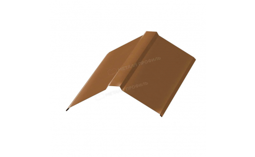Планка конька плоского простая МеталлПрофиль 115х115