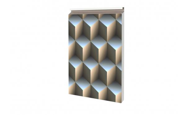 Металлокассета с фотопокрытием 3D кубы