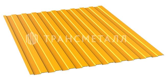 Профлист цвета желтый цинк