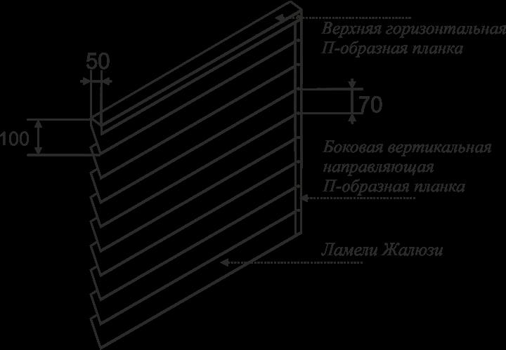высота секции ламели