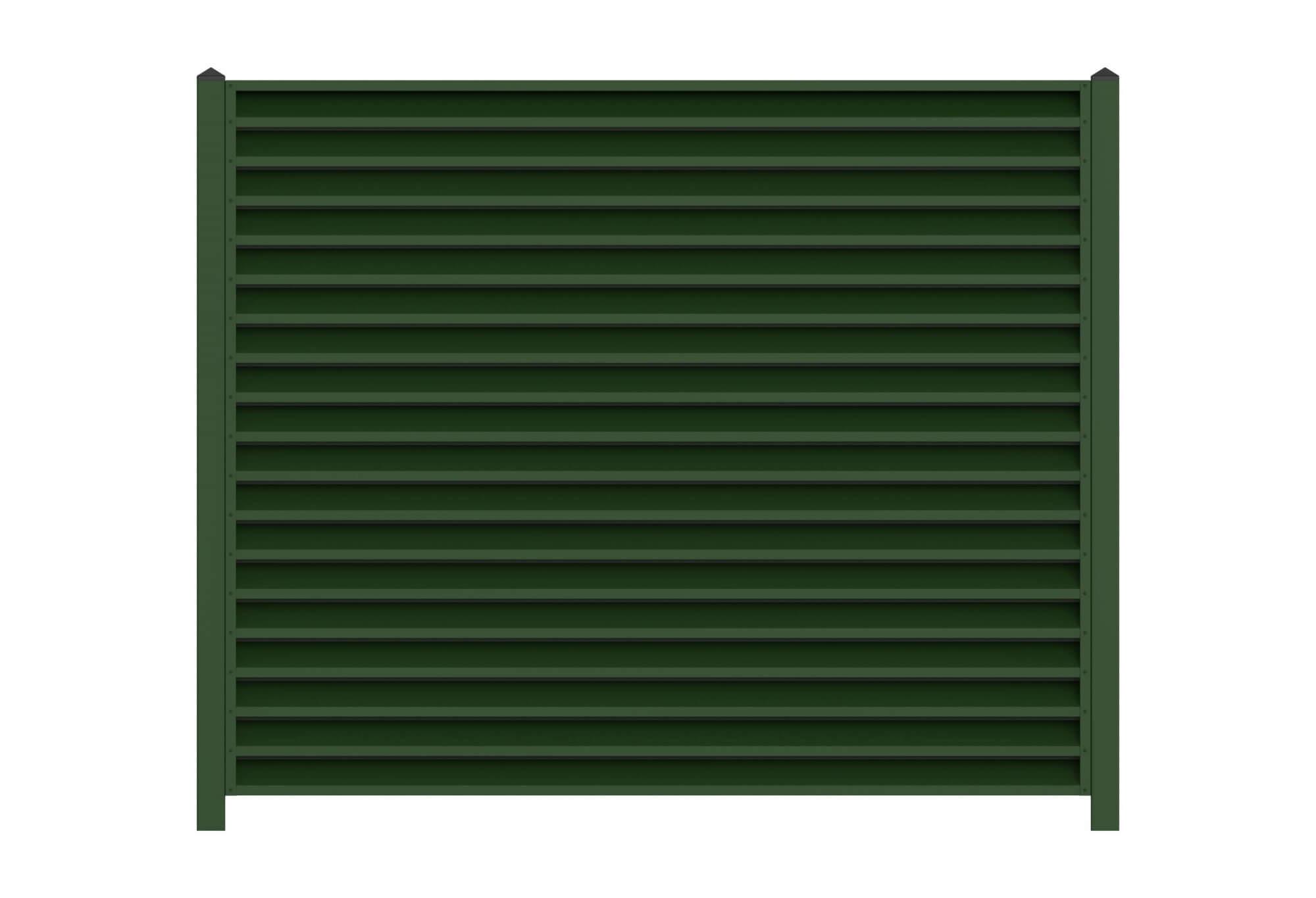 Забор-жалюзи «Зелёный мох»