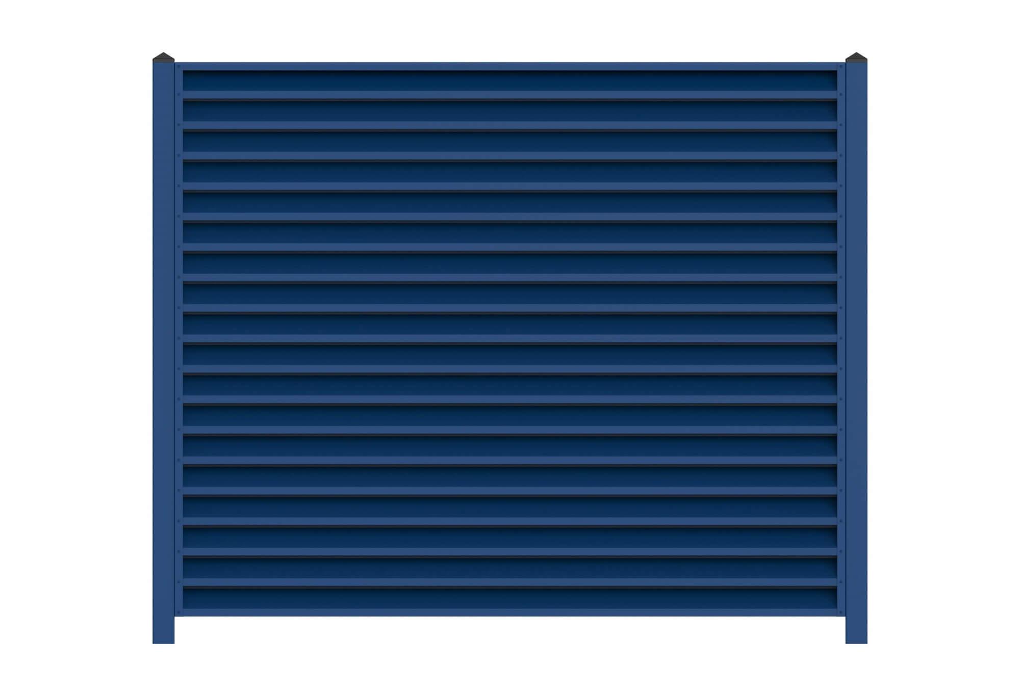 Забор-жалюзи насыщенного синего цвета