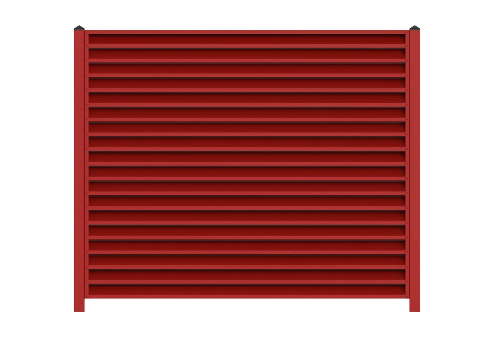 Красный забор-жалюзи