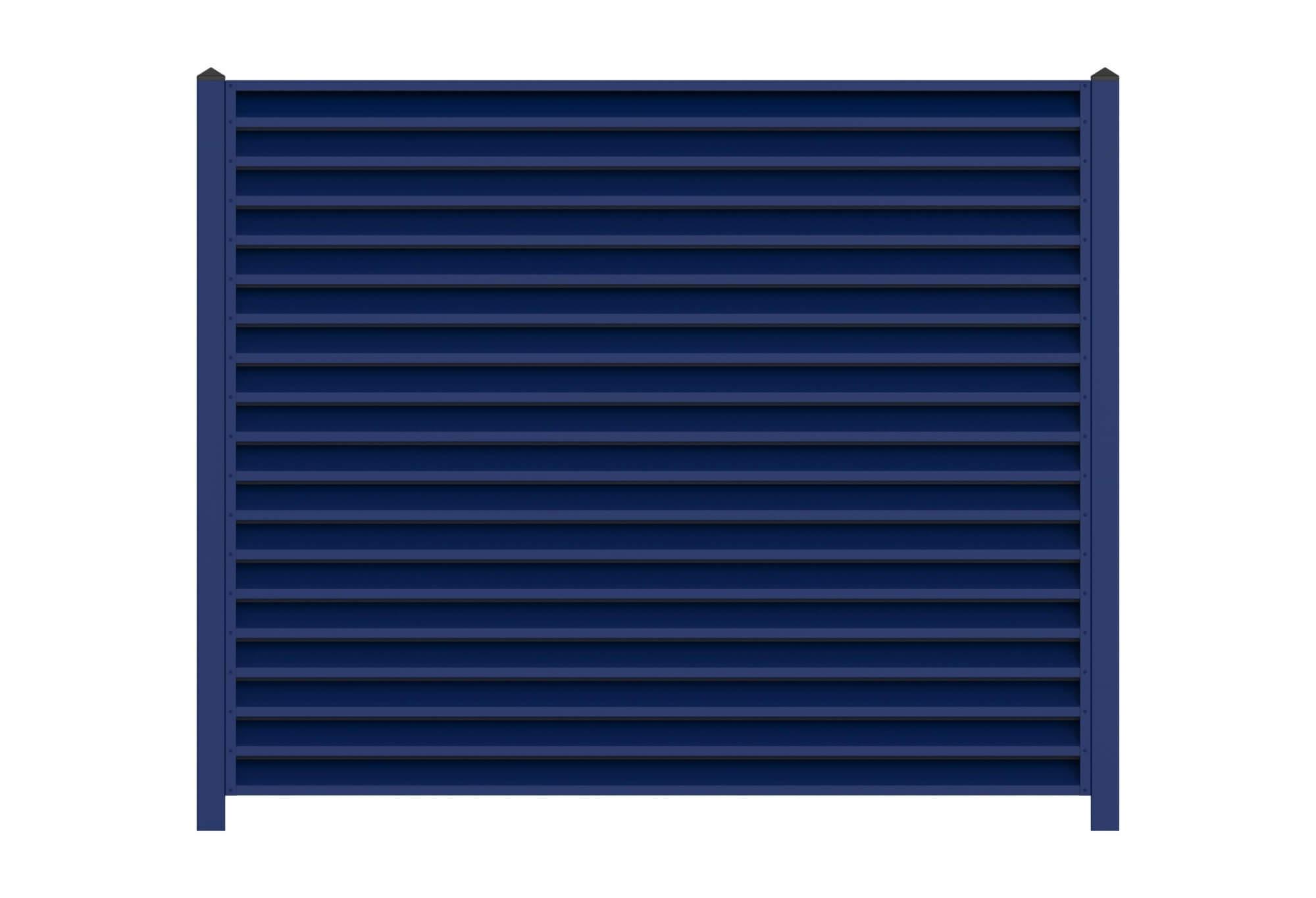 Синий забор-жалюзи