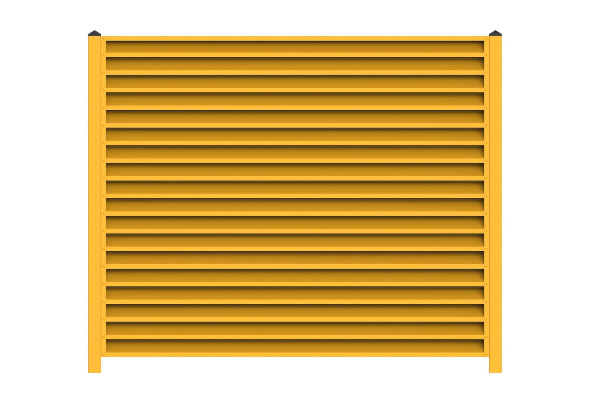 Забор-жалюзи цвета жёлтый цинк