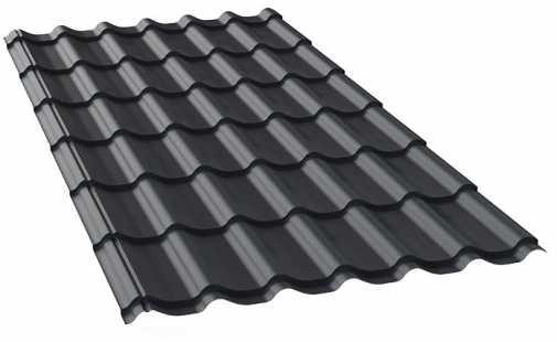 металлочерепица темно-серого цвета