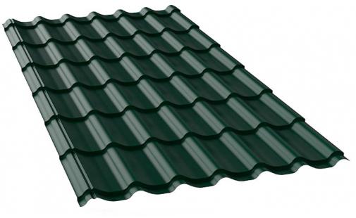металлочерепица цвета хромовая зелень