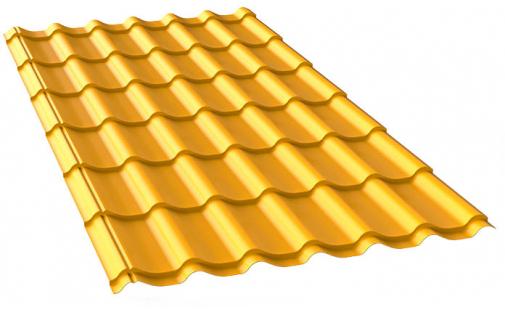 Металлочерепица желтая